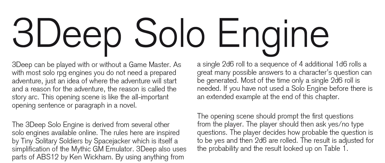 Solo engine credit