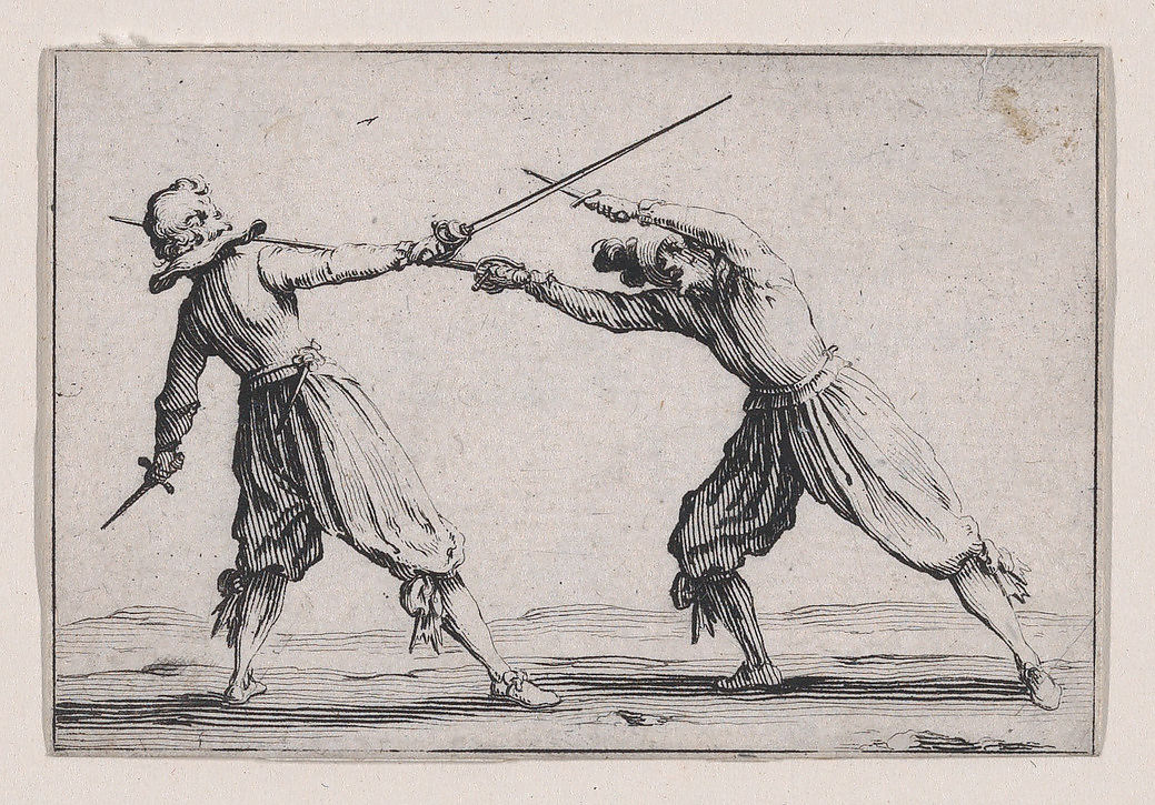 Two 10th Level Fighters Dueling With Daggers